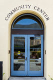 Community center entrance royalty free stock photography