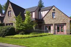 Community center house, Portland OR. Royalty Free Stock Images