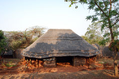 Community centre. Traditional style community house of the Shangana tribe in South Africa stock image