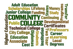 Community College. Word cloud on white background Royalty Free Stock Photography