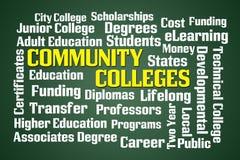 Community Colleges stock illustration