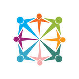 Community. Colourful and simple community illustration Stock Images