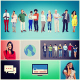 Community Communication Networking Technology Content Concept Stock Image