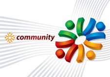 Community concept. Abstract human sign Stock Image