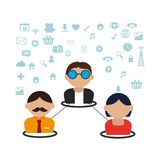 Community with connect people royalty free illustration