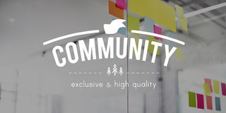 Community Connection Network Togetherness Concept Stock Image