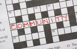 Community Crossword Puzzle Royalty Free Stock Image