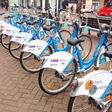 Community cycle hire. Royalty Free Stock Photos