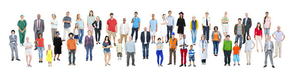 Community Diversity People Jobs Professional Occupation Concept.  Stock Photos