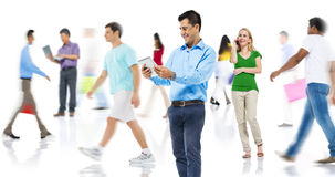 Community Diversity People Shopping Online Technology Concept royalty free stock image