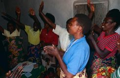 Community empowerment project in Rwanda. Royalty Free Stock Image