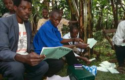 A community empowerment project, Uganda. Stock Photo