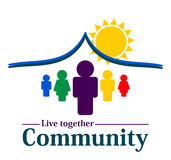 Community together concept. Working together in community concept Royalty Free Stock Photo