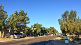 Community Garage Sale. PHOENIX, US - APRIL 30, 2017: Early morning hour at weekend Yard Sale in residential community, Phoenix, Arizona Stock Photo