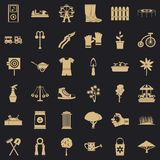 Community garden icons set, simple style. Community garden icons set. Simple set of 36 community garden vector icons for web for any design royalty free illustration