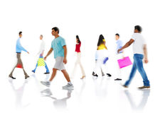 Community Group of People Buying Shopping Concept Stock Images