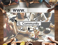 Community Group Website Web Page Online Technology Concept Stock Images
