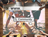 Community Group Website Web Page Online Technology Concept Royalty Free Stock Photos