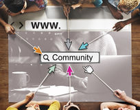 Community Group Website Web Page Online Technology Concept Stock Photo