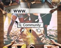 Community-Gruppen-Website-Webseiten-on-line-Technologie-Konzept Lizenzfreie Stockfotos