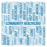 Community Healthcare word cloud. vector illustration