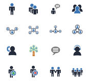 Community icon set. Community web icons for user interface design stock illustration