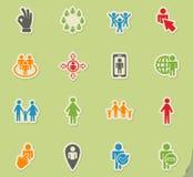 Community icon set Royalty Free Stock Photo