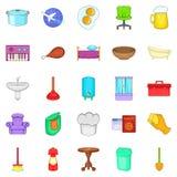 Community icons set, cartoon style Royalty Free Stock Images