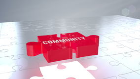 Community jigsaw falling into place stock footage