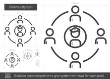 Community line icon. Community vector line icon isolated on white background. Community line icon for infographic, website or app. Scalable icon designed on a Royalty Free Stock Images