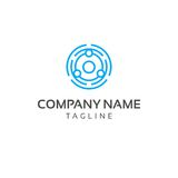 Community Logo Template - Editable Vector Simple Line Stock Images