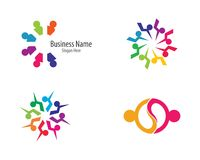 Community logo template illustration royalty free illustration