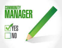Community Manager approval sign concept Stock Images