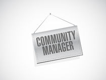 Community Manager banner sign concept Royalty Free Stock Image
