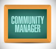 Community Manager chalkboard sign concept. Illustration design graphic Royalty Free Stock Images