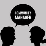 Community Manager design Stock Photography