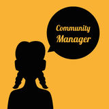Community Manager design Stock Photo