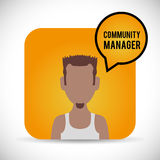 Community Manager design Stock Image