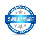 Community Manager seal sign concept Royalty Free Stock Images
