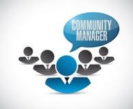 Community Manager teamwork sign concept. Illustration design graphic Stock Photo