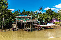 Community on Marajo Bay in Belem do Para, Brazil.  Stock Images