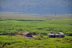 Community of Mon people. Hut or small house at sangkhaburi kanchanaburi thailand Royalty Free Stock Photography