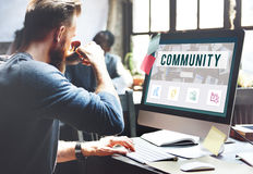 Community Online Communication Connection Concept. Business People Community Communication Concept Royalty Free Stock Image