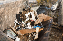 Community park cleanup Royalty Free Stock Photography