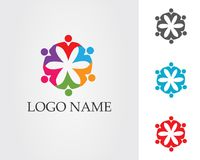 Community people care logo and symbols template.  Stock Images