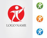 People care logo and symbols template. Community people care logo and symbols template Royalty Free Stock Photography