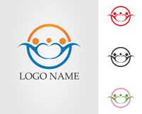 Community people care logo and symbols template. Community people logo and symbols template Royalty Free Stock Image