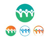 Community people care logo and symbols template. Community and people care logo and symbols template Stock Illustration