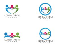 Community People care success and  health life logo template icons Stock Images