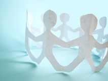 Community of people, concept. Community of people holding on hands, concept Royalty Free Stock Photo